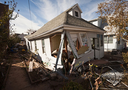 Damage in the aftermath of Hurricane Sandy